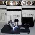 100% Nuevo Mini 60x Magnify LED Óptica de Las Lentes de Zoom Lupa Micro teléfono móvil lente de la cámara con cubierta de la caja del teléfono para iphone 4 4S