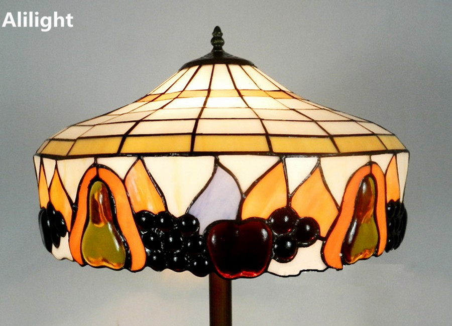 Vintage creativo lampada da terra tiffany lusso in piedi light