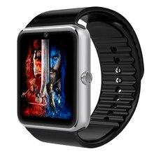 Android smart watch gt08 uhr mit sim einbauschlitz push-nachricht bluetooth-konnektivität telefon besser als dz09 smartwatch