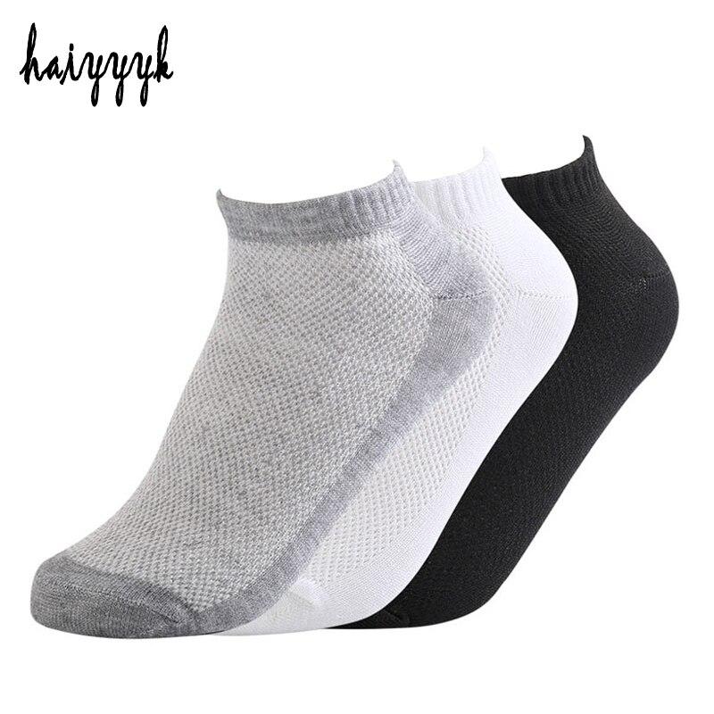 20Pcs=10Pair Solid Mesh Men's Socks Invisible Ankle Socks Men Summer Breathable Thin Boat Socks Size EUR 38-43 cheap price цена 2017