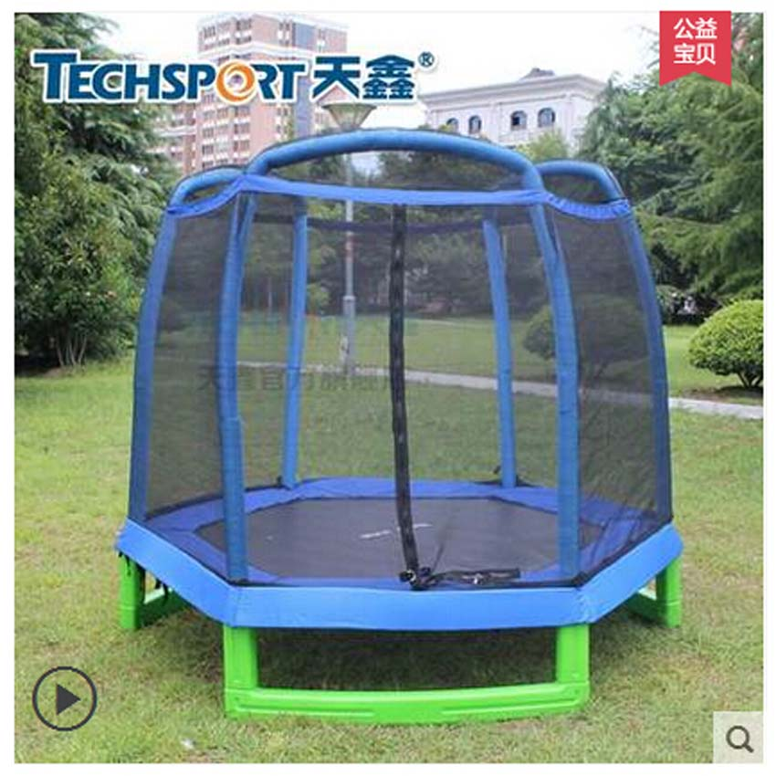 Di alta qualità 7 FEET Trampolino con SafetyNet Si Adatta e hexagon tipo, CE, EN71, EN3219 approvazione