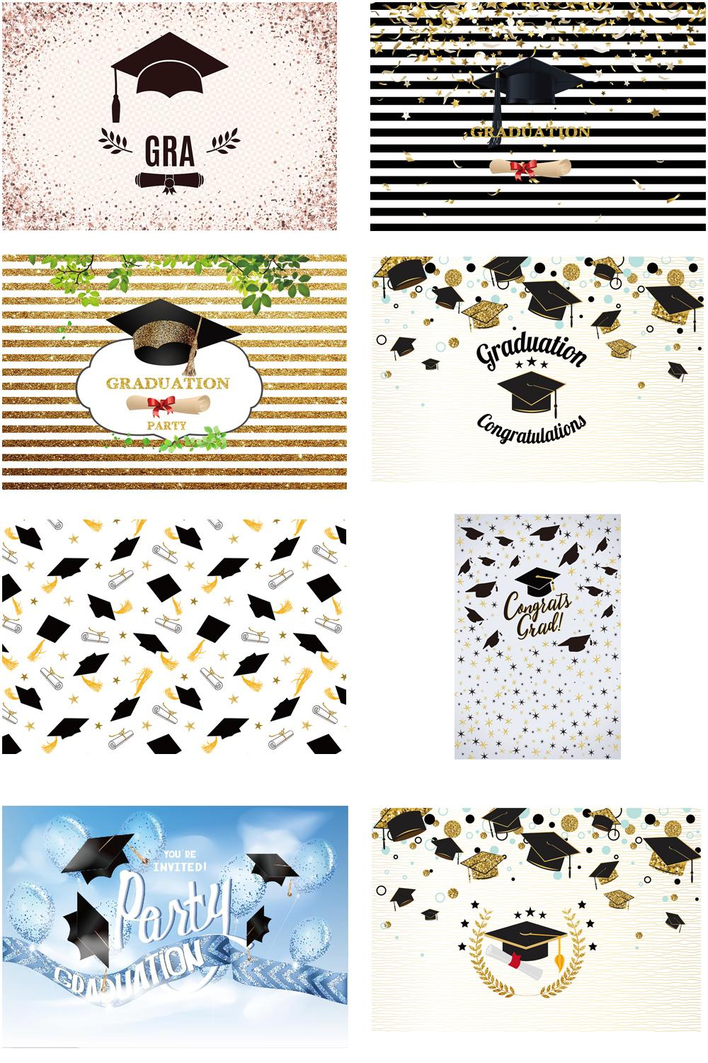 Graduation Backdrops for Photography Graduation Cap Design Photo Booth Background Studio Photocall