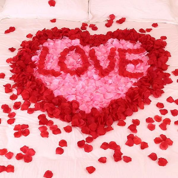 FORSEVEN 100pcs/ Bag Marriage Wedding Decoration Artificial Flower Rose Petal Fake Petals Valentine Anniversary Accessories JL