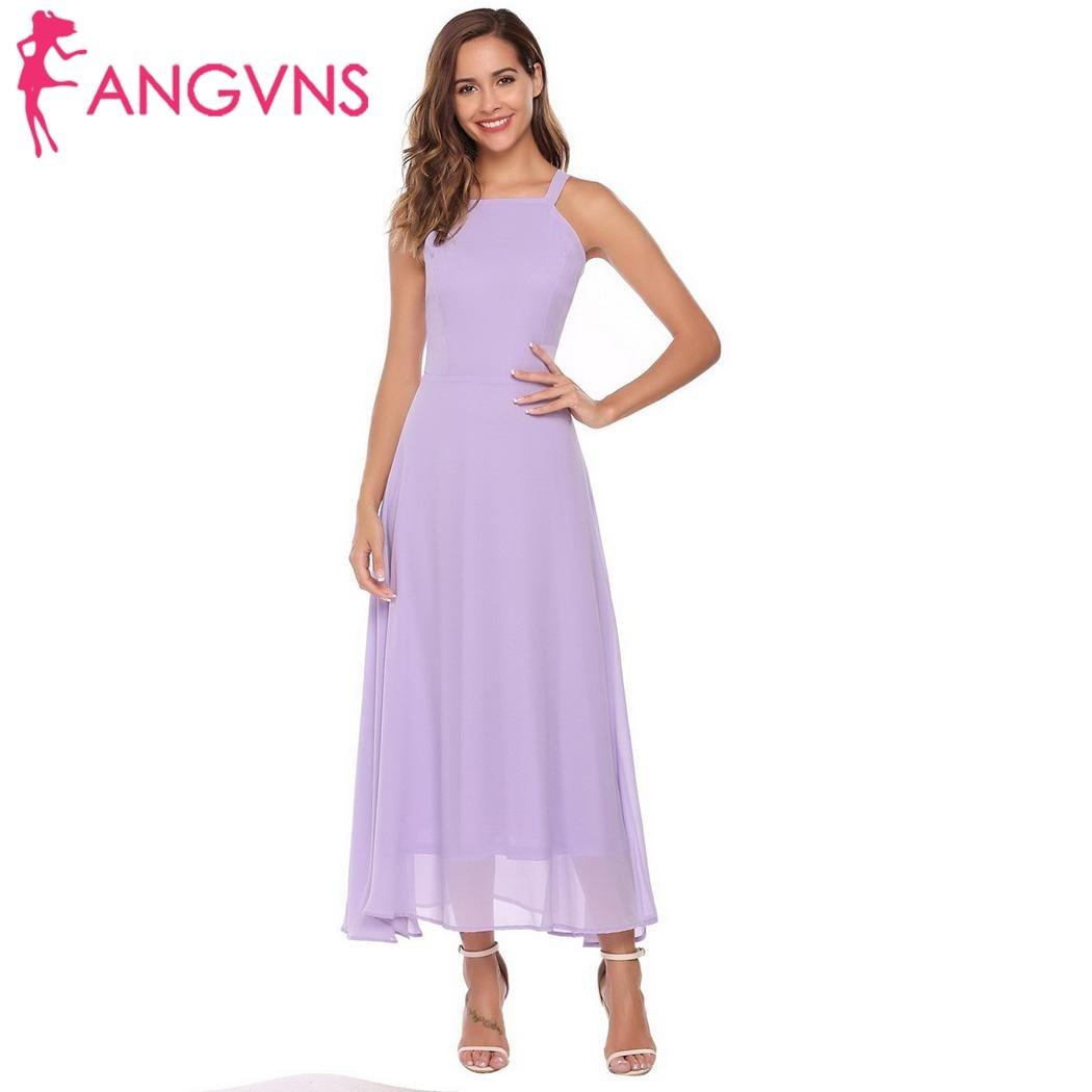 Angvns mujeres vestido formal Encaje up sexy correa de espagueti ...