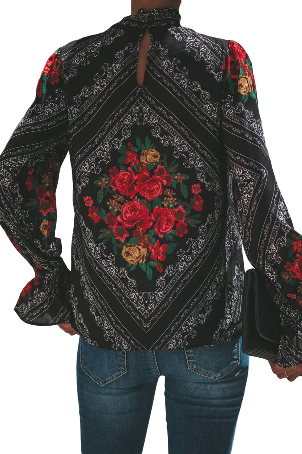 Gothic-Red-Rose-Print-Smocked-Long-Sleeve-Blouse-LC251632-3-2