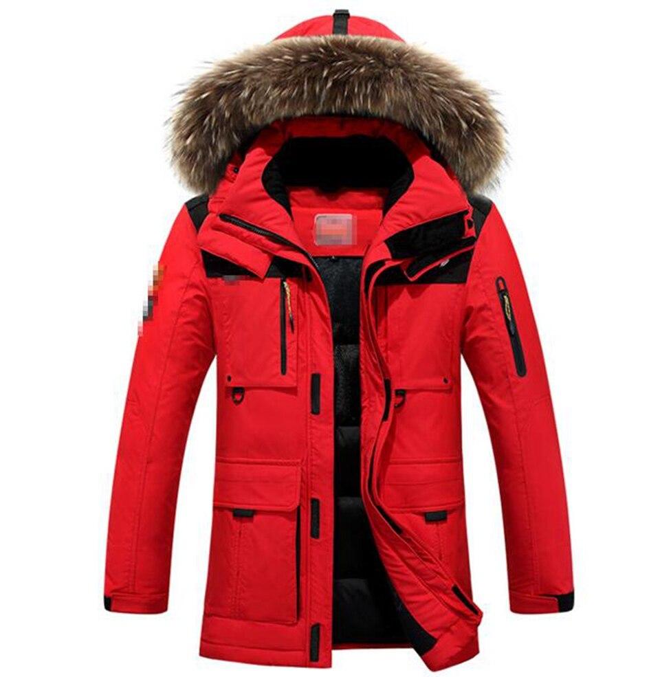 Homme han édition plus nouvelle personnalité de la mode pour garder au chaud en hiver long à capuche en coton rembourré veste manteau 288 /L-3XL