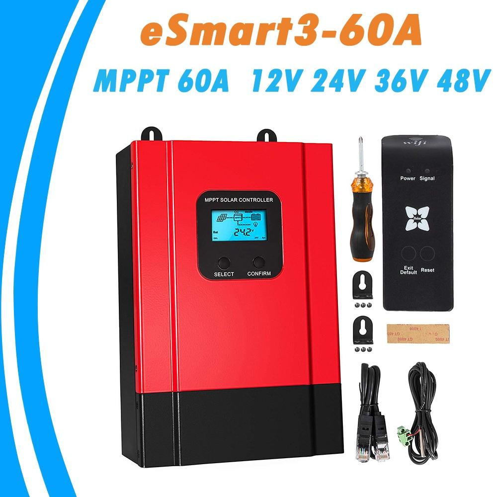 mppt controlador de carga solar 60a 12 v 24 v 36 v 48 v regulador do