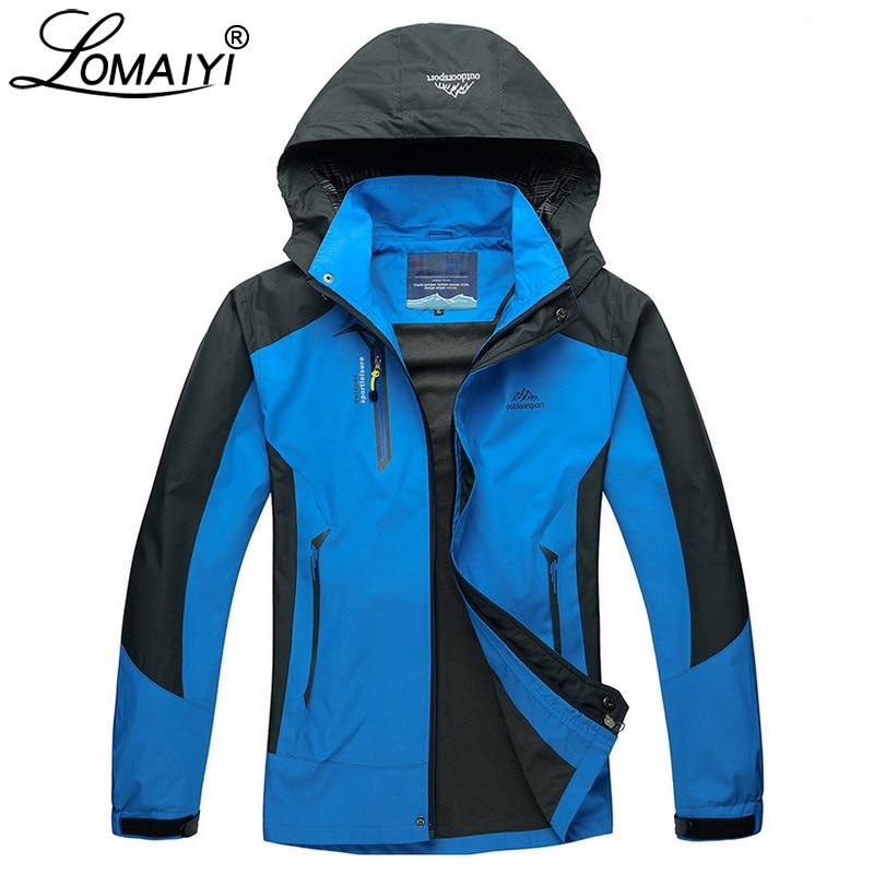 LOMAIYI Vodootporna Muška jakna Proljeće Jesen Zima Fleece Podstava - Muška odjeća - Foto 5