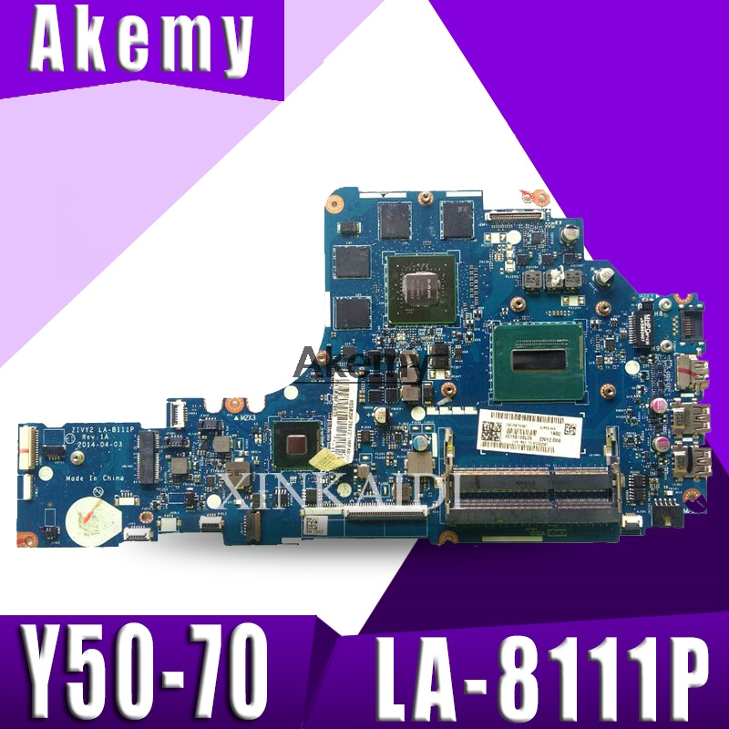 ZIVY2 LA-B111P motherboard for Lenovo Y50-70 laptop motherboard i7 CPU GTX860M original Test motherboard notebookZIVY2 LA-B111P motherboard for Lenovo Y50-70 laptop motherboard i7 CPU GTX860M original Test motherboard notebook