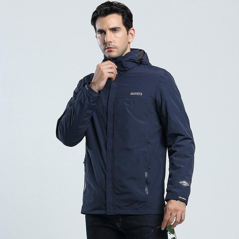 New Men Autumn Winter Outdoor Sport Windproof Warm Thicken Jacket 3 In 1 Trekking Camping Fishing Coats Women Waterproof Jacket