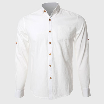 Men White Formal Shirts Casual Cotton Linen Long Sleeve Office Business Work Wear Turn Down Collar High Quality girls plaid blouse 2019 spring autumn turn down collar teenager shirts cotton shirts casual clothes child kids long sleeve 4 13t