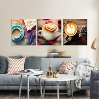 Crafts Coffee Triptych 3D Diy Diamond Painting Square Full Rhinestone Pattern Needlework Mosaic Diamond Embroidery Handmade