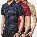 2017 лето с коротким рукавом нагрудные мужская рубашка печати хлопок рубашки мужчины camisa masculina camisa hombres бесплатная доставка