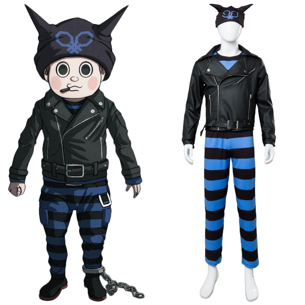 Danganronpa V3 Cosplay Costume Killing Harmony Ryoma Ryouma Hoshi Cosplay Costume Suit Knit Hat Custom Made Halloween Costume