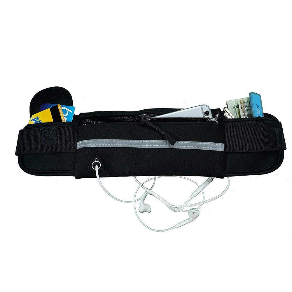 屋外スポーツ防水ランニングユニセックスウエストバッグポーチ携帯電話収納ファニーパック