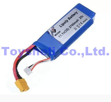 <font><b>WL</b></font> <font><b>v303</b></font> Helicopter parts battery 11.1v 2700mah 25C WLtoys <font><b>V303</b></font> RC Quadcopter Spare Parts image