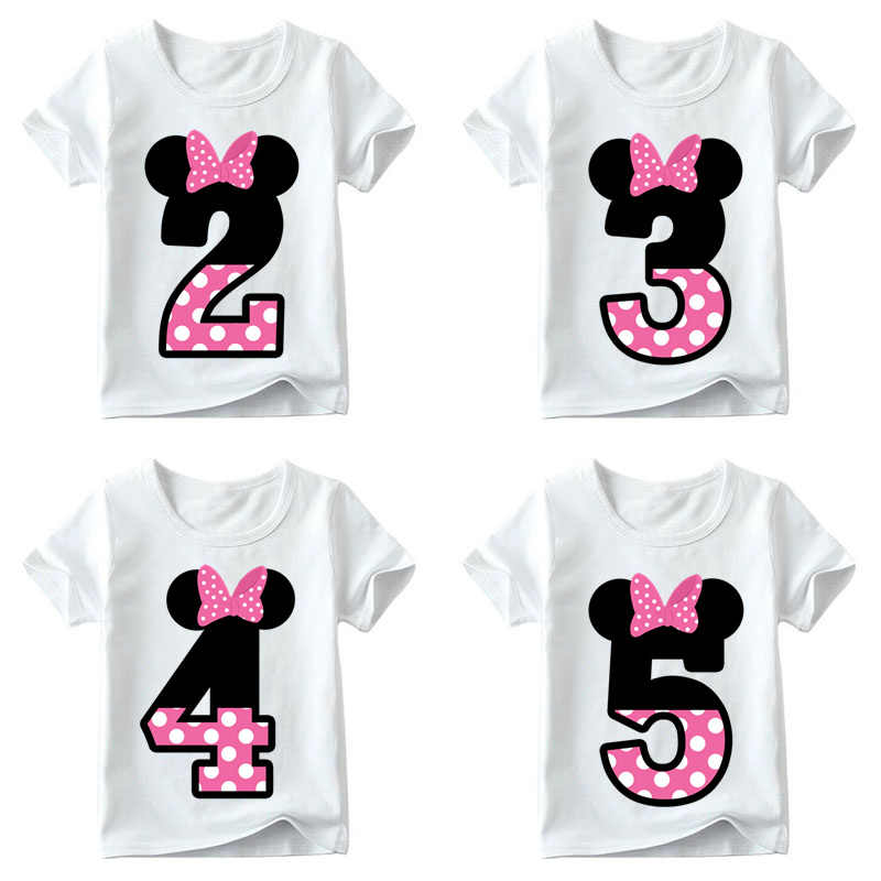 Kids Boys Girls T-shirt for Birthday Summer Children Clothing Funny T Shirt Tshirt Tees Tops Size 1 2 3 4 5 6 7 8 9 Year Present
