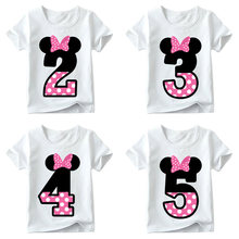 Kids Boys Girls T-shirt for Birthday Summer Children Clothing Funny T Shirt Tshirt Tees Tops Size 1 2 3 4 5 6 7 8 9 Year Present(China)