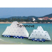inflatable iceberg slide swimming pool rock climber for water park equipment adult water sports equipment Inflatable Ice Tower
