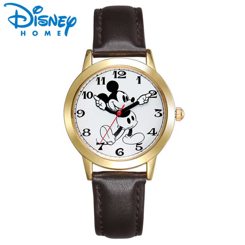 Original Disney Mickey Mouse Women Watches Men Unisex Gold Silver Brown Leather Classic Moving Gloved Hands Watch Ladies WatchesOriginal Disney Mickey Mouse Women Watches Men Unisex Gold Silver Brown Leather Classic Moving Gloved Hands Watch Ladies Watches