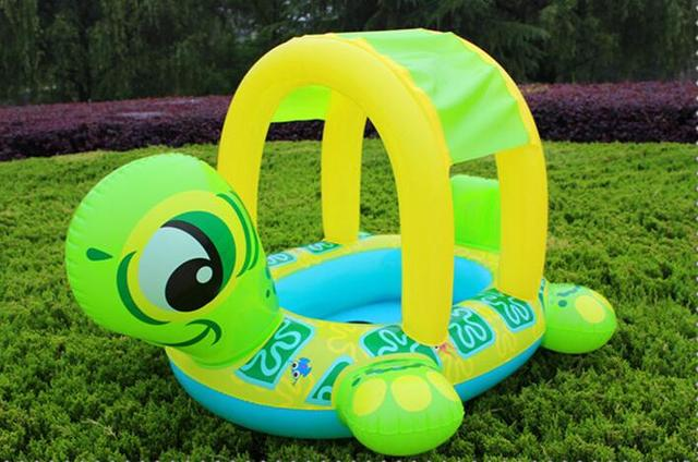 Cute Design Safety Water Play Equipment Turtle Boat PVC Inflatable Baby Seat Ring With Shade Tent & Cute Design Safety Water Play Equipment Turtle Boat PVC Inflatable ...