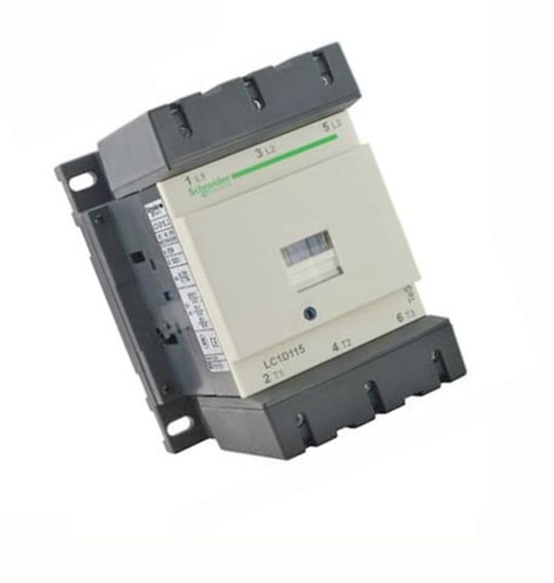 New LC1D11500F7C TeSys D Contactor 115A AC 110V 50/60Hz LC1-D11500F7C new cad32mdc dc220v tesys d series contactor control relay 3no 2nc