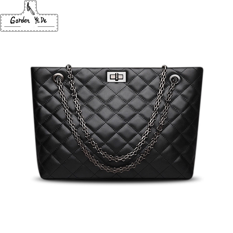 Crossbody-Bags Messenger Tote Female Handbags Plaid Black Large Designer Women Luxury Brand