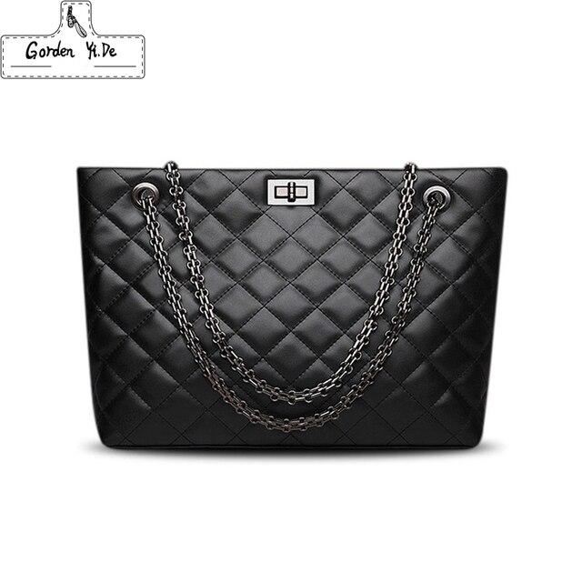 Luxury Brand Plaid Crossbody bags for women 2019 Large Female Handbags Designer Black Leather Messenger Tote Women shoulder bag
