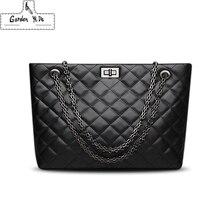 Marca de luxo xadrez sacos crossbody para as mulheres 2020 grandes bolsas femininas designer couro preto mensageiro tote bolsa ombro