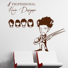 Barber Hairdresser Sex Girls Lady Hair Salon Name Wall Sticker Hair Cutting Wall Decal Hairdressing Shop Window Decoration