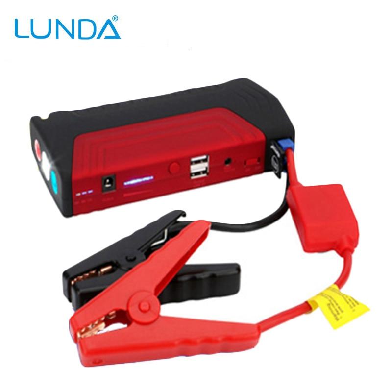 Prix pour LUNDA 600A courant de crête de voiture jump starter power bank Multi-fonction 12 v d'urgence batterie de voiture booster US ROYAUME-UNI UE UA bouchons