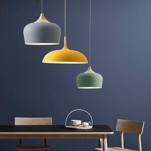 Image 4 - Lampe suspendue au design nordique, ampoules E27, idéal pour un Restaurant, un café, un Bar ou un macaron