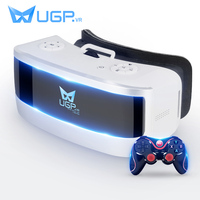 UGP All In One 5.5Inch 1080P 3D VR Glasses With bluetooth Gamepad Game Controler VR Glasses For Virtual Reality Game Video Moive