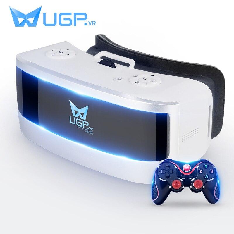 UGP Tout En Un 5.5 Pouces 1080 P 3D VR Lunettes Avec Bluetooth Gamepad Jeu Contrôleur VR Lunettes De Réalité Virtuelle Jeu Vidéo Film