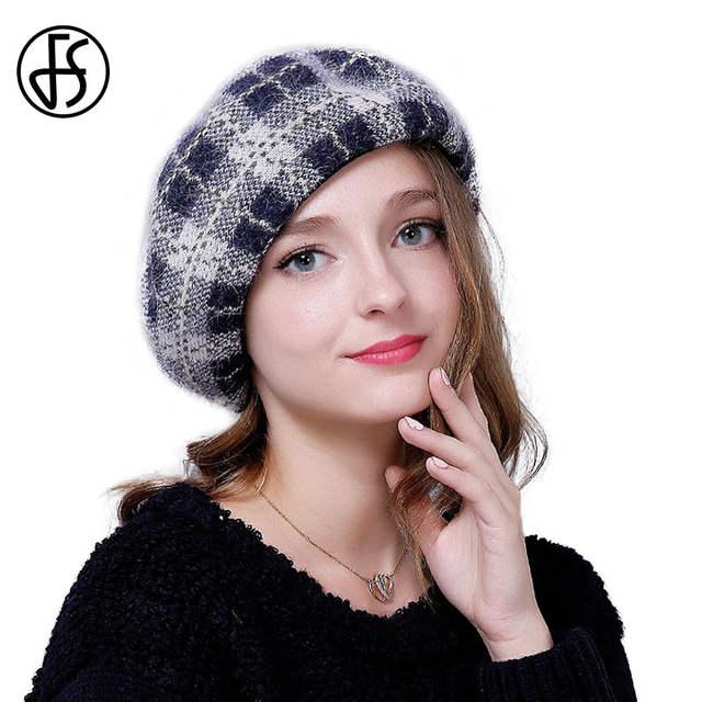 80f9940acd9fd placeholder Moda Boinas de Feltro De Lã de Inverno Para As Mulheres Artista  Boina Elegante Xadrez Feminino