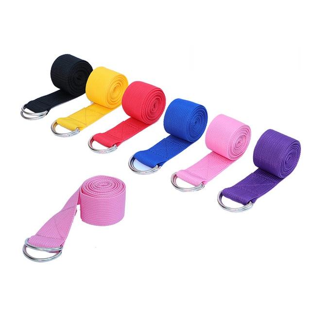 Women-Yoga-Stretch-Strap-Multi-Colors-D-Ring-Belt-Fitness-Exercise-Gym-Rope-Figure-Waist-Leg