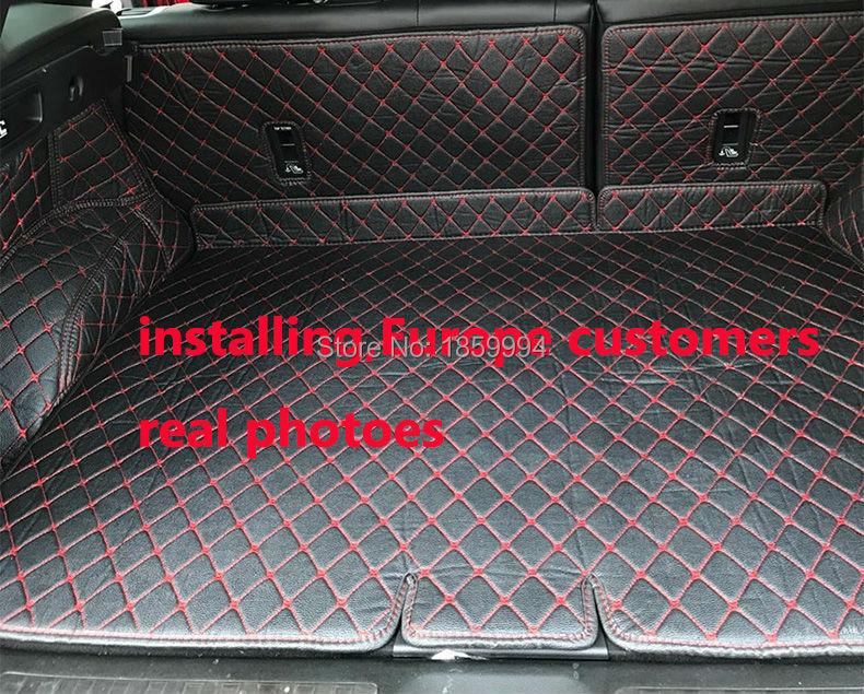 пригодный для 2016 2017 Renault Каджары задний хвост багажник коврик прочный ботинок ковры
