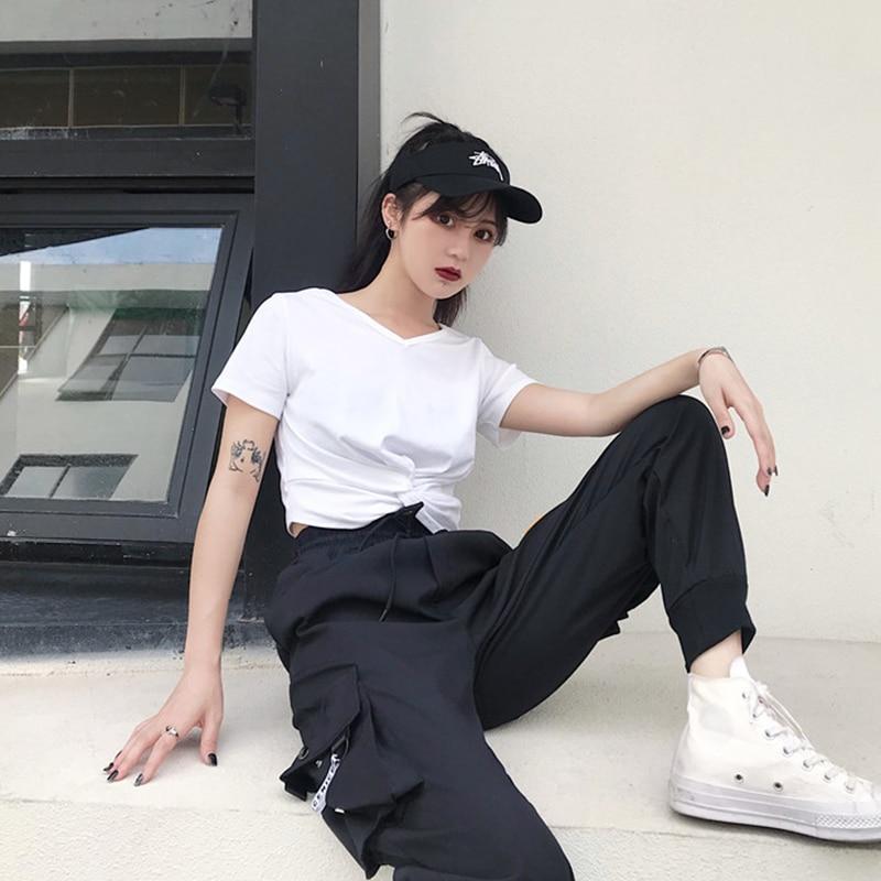 Hot Big Pockets Cargo pants women High Waist Loose Streetwear pants Baggy Tactical Trouser hip hop
