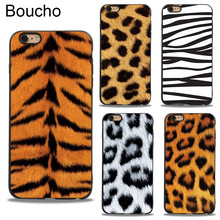Boucho For iPhone 5 5s SE XS MAX XR X Phone Cases Leopard Print Tiger Pattern Soft Silicone Cover 6 6s 7 8 plus Case