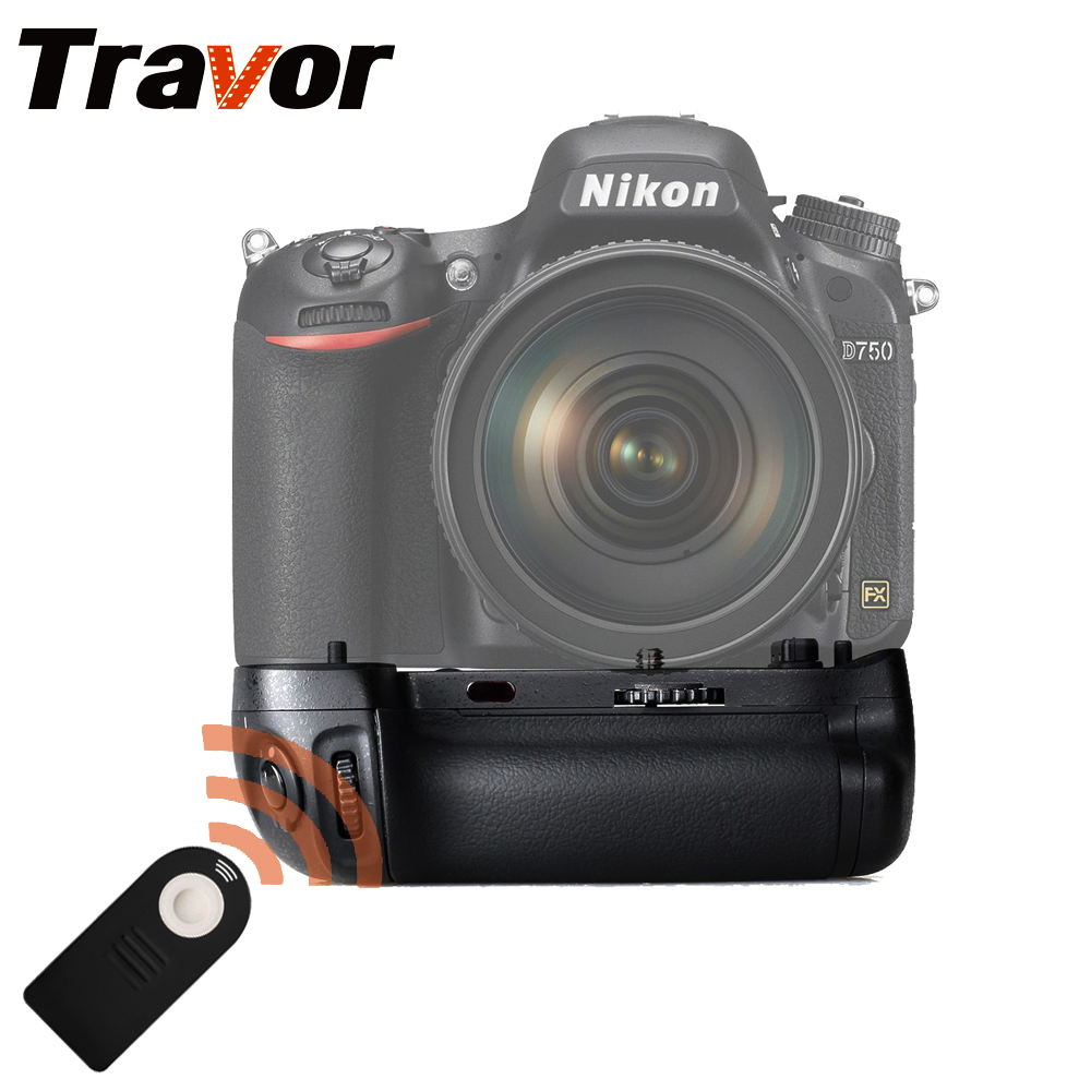 Travor vertical battery grip holder for Nikon D750 DSLR Camera with IR Function as MB-D16 battery hand handle grip holder 2 step vertical power shutter for nikon d200 dslr camera as mb d200 2 x en el3e car charger