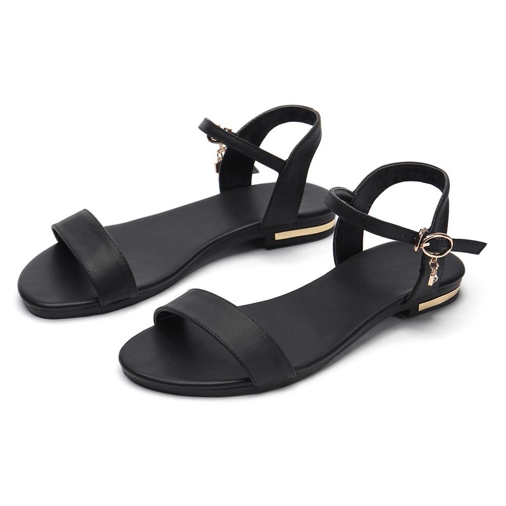 HTB1Hb6yoYSYBuNjSspfq6AZCpXav MORAZORA Plus size 34-46 New genuine leather sandals women shoes fashion flat sandals cow leather summer rhinestone ladies shoes