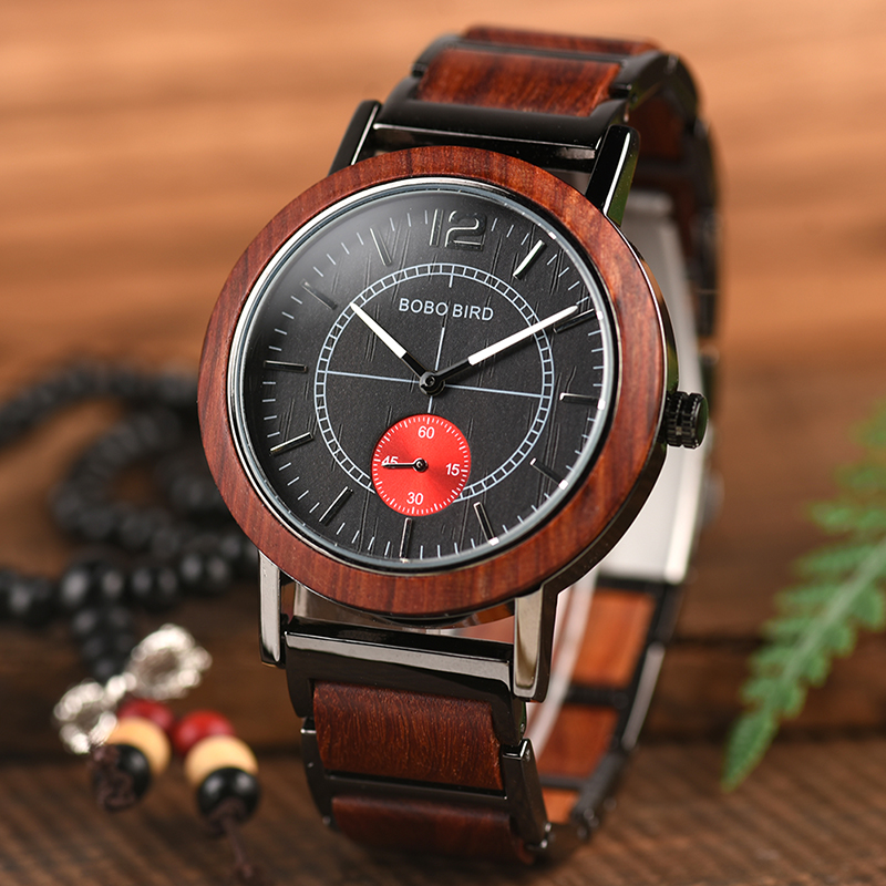 BOBO BIRD Luxury Men Wooden Watches W-R12