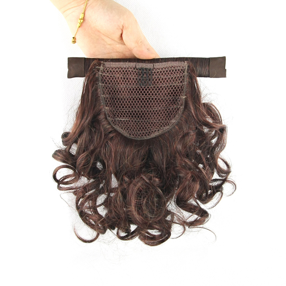 soowee short curly ponytails synthetic