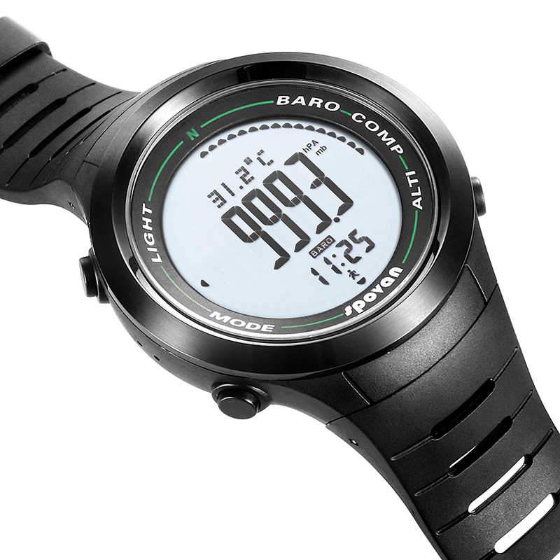 Spovan 2019 New Top Brand Digital Sport Watch Silicon Military Quality A Luxury Waterproof Smart Wristwatch Erkek Saat Gift Men