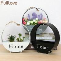 FullLove 20 2 6 5 21cm Creative Metal Hanging Flower Holder Artificial Flower Bonsai Plant Pots