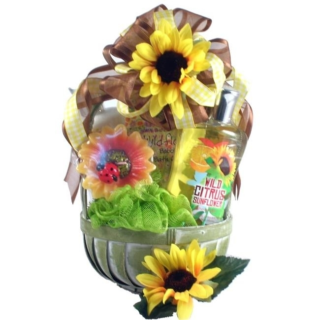 Gift Basket Drop Shipping CiSuSpBa Citrus Sunflower Spa Basket cnd сверкающая маска cnd citrus spa manicure citrus illuminating masque 9428 378 г