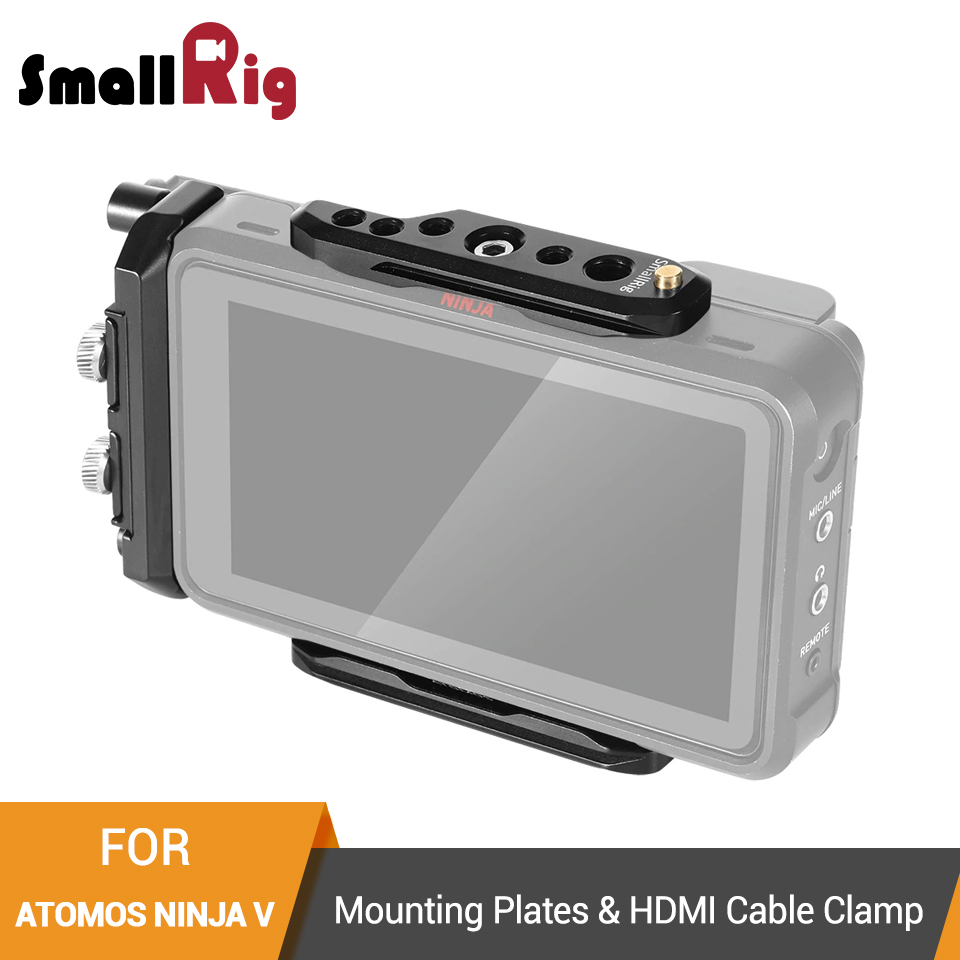 SmallRig Mounting Plates and HDMI Cable Clamp for Atomos Ninja V Top Plate Baseplate HDMI Cable