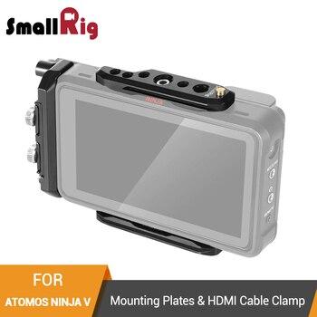 SmallRig монтажные пластины и HDMI Кабельный зажим для Atomos Ninja V верхняя пластина + опорная пластина + HDMI Кабельный зажим комплект-2338