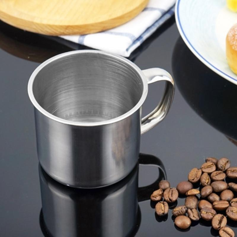 Nice 1pcs New 100-200ML Stainless Steel Portable Mug Cup For Camping/Travel/Home Use Coffee Mug Tea Cup