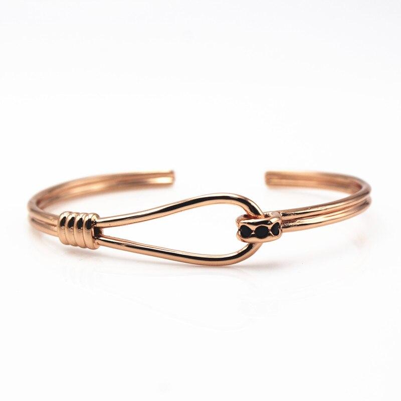 Trendy Rose Gold Silver Plated Bracelet for Women Bangle Bracelet Jewelry Bracelet Bangle Pulseiras